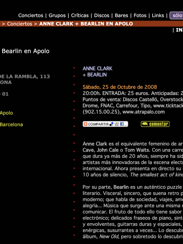 Atiza Anne Clark + Bearlin En Apolo